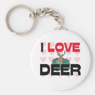 I Love Deer Key Ring