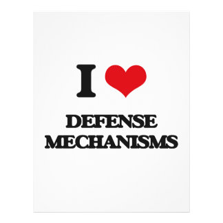 I love Defense Mechanisms Flyer Design