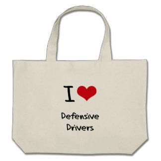 I Love Defensive Drivers Canvas Bags