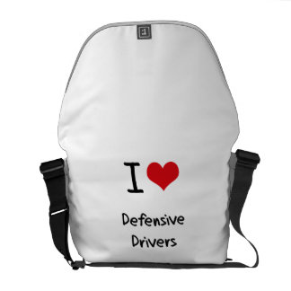 I Love Defensive Drivers Messenger Bag