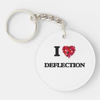 I love Deflection Single-Sided Round Acrylic Key Ring