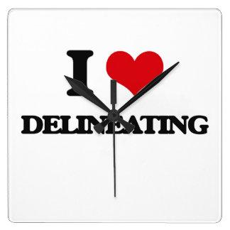 I love Delineating Square Wallclocks
