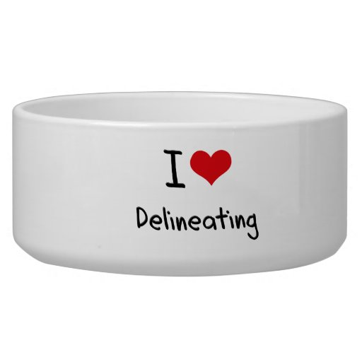 I Love Delineating Pet Food Bowl