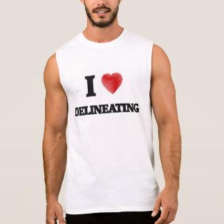 I love Delineating Sleeveless Shirt