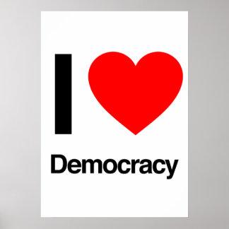 i love democracy print