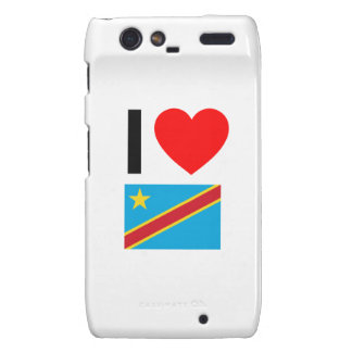 i love democratic republic of the congo droid RAZR case