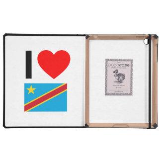 i love democratic republic of the congo iPad folio cover