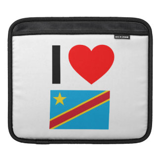 i love democratic republic of the congo sleeves for iPads