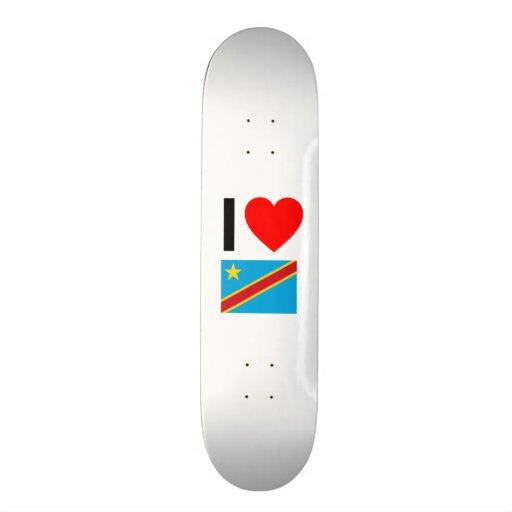 i love democratic republic of the congo skate deck