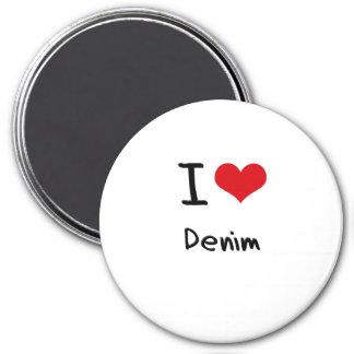 I Love Denim Refrigerator Magnets