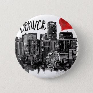 I love Denver 6 Cm Round Badge
