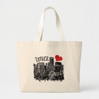 I love Denver Large Tote Bag
