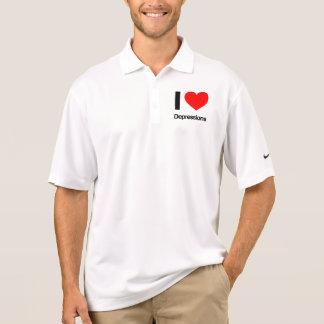 i love depressions polo t-shirts