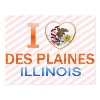 I Love Des Plaines, IL Postcard