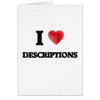 I love Descriptions Card