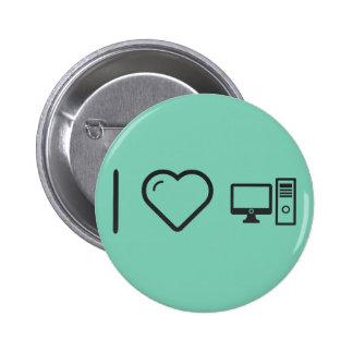 I Love Desktop Comps 6 Cm Round Badge