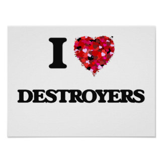 I love Destroyers Poster