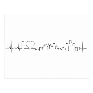 I love Detroit in an extraordinary ecg style Postcard