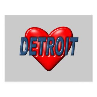 I Love Detroit Postcard