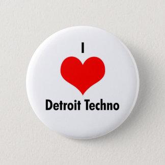 I love detroit techno 6 cm round badge