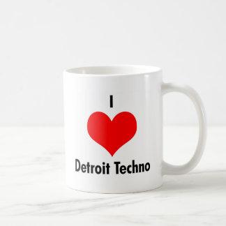 I Love Detroit Techno Coffee Mug
