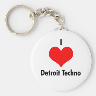 I love detroit techno key ring