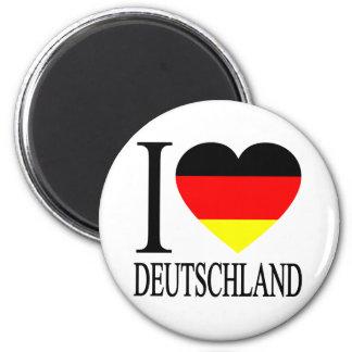 I Love Deutschland Germany German Flag Heart 6 Cm Round Magnet