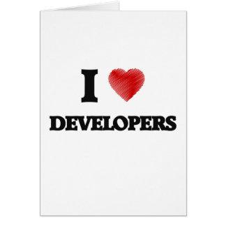 I love Developers Card