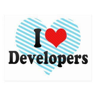 I Love Developers Post Cards
