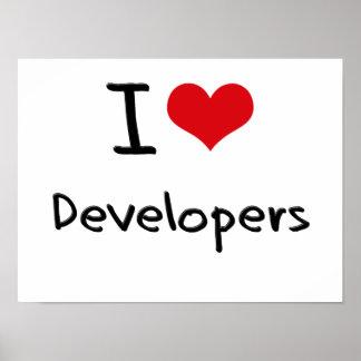 I Love Developers Poster