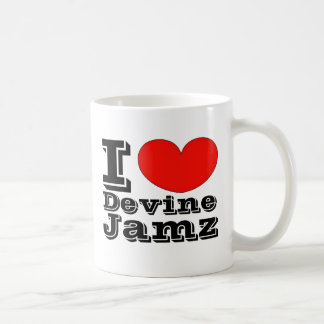 I Love Devine Jamz Basic White Mug