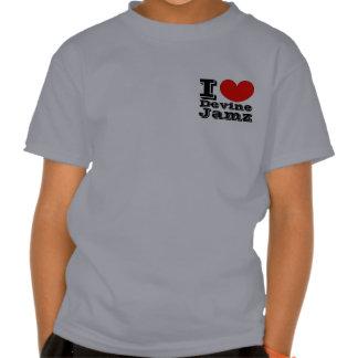 I Love Devine Jamz Gospel Network KIDS T-shirts