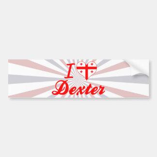 I Love Dexter Georgia Bumper Stickers