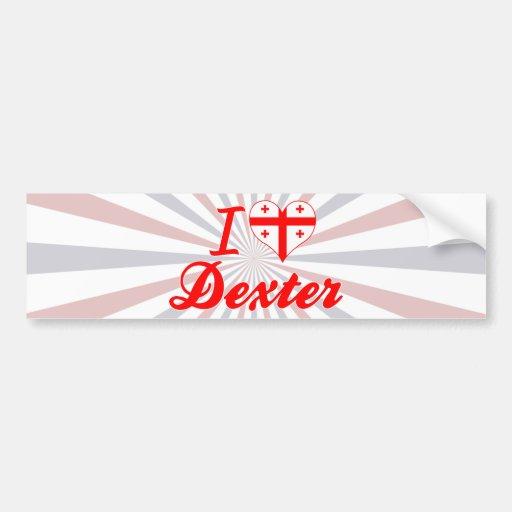 I Love Dexter, Georgia Bumper Stickers