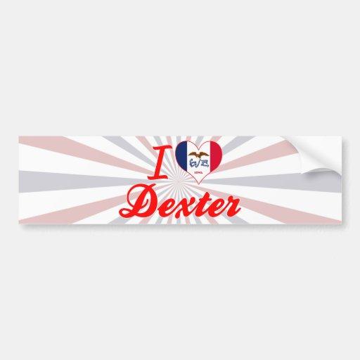 I Love Dexter, Iowa Bumper Sticker