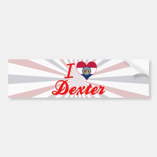 I Love Dexter, Missouri Bumper Stickers
