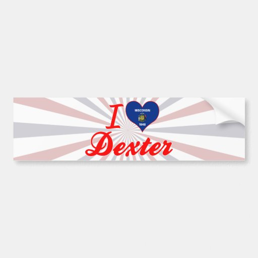 I Love Dexter, Wisconsin Bumper Sticker