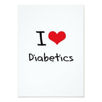 I Love Diabetics Cards
