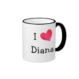 I Love Diana Ringer Mug