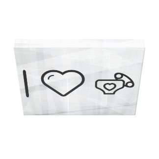 I Love Diaper Babies Gallery Wrap Canvas