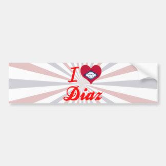 I Love Diaz, Arkansas Bumper Sticker