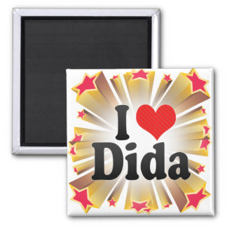 I Love Dida Square Magnet