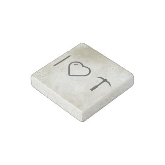 I Love Diggers Stone Magnet