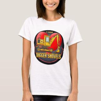 I Love Diggers Womens T-Shirt