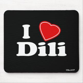 I Love Dili Mouse Pad