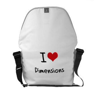 I Love Dimensions Courier Bags