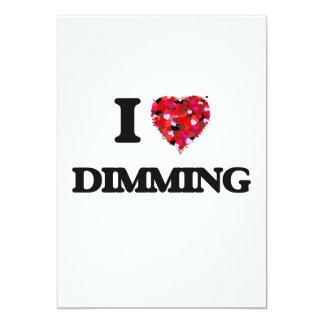 I love Dimming 13 Cm X 18 Cm Invitation Card