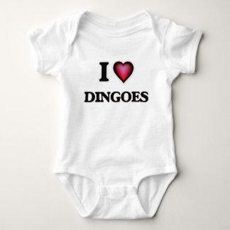 I Love Dingoes Baby Bodysuit