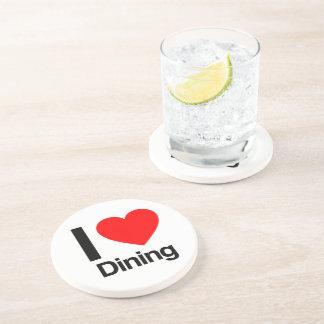 i love dining coasters