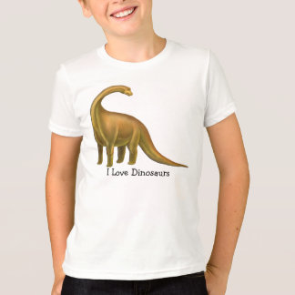 I Love Dinosaurs Customizable Kids T-Shirt